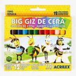 GIZ DE CERA C/12 BIG GIZ ACRILEX – 09111