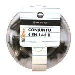 0604-CONJUNTO-4X1-BEE-UNIQUE-KIT-DONUTS-ACRILICO-PRETO
