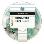 0604-CONJUNTO-4X1-BEE-UNIQUE-KIT-DONUTS-ACRILICO-VERDE1